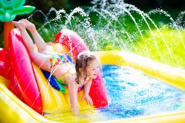 5x Waterpret in de tuin