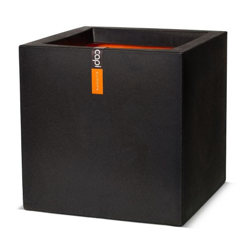 Pot vierkant IV Smooth NL 50x50x50 zwart