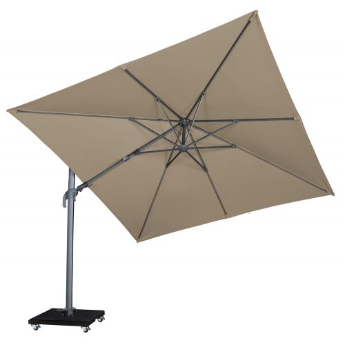Royal Seasons Zweefparasol Recharger T² 300x300 Taupe - afbeelding 2
